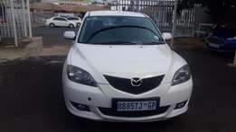 2007 White mazda 3 1.6 Sport for sale