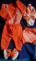 Baby sweater n crochet shoes