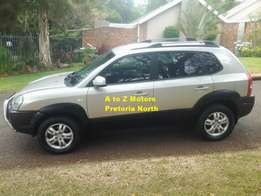 2008 Hyundai Tucson 2.0 GLS SUV with the following km's 234000