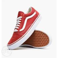 Vans Old Skool Pro Skate Sneakers - Dark Red