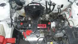 Toyota 1300 2e engine and 5spd gearbox