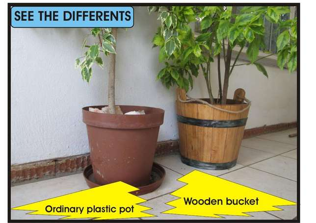 wooden water bucket Northcliff - image 4
