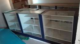 Glass cabinet cupboards for shop