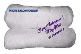 White salon size towels at Kshs. 250.00