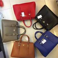 Prada Double Small Saffiano Leather Tote Bag