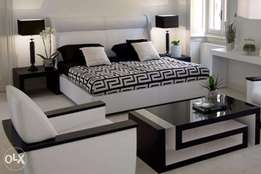 Bed Frame + 1 seater sofa + coffee table