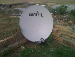 Open View Channel Dish and Decoder for sale