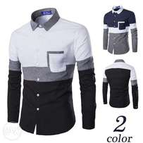 Long Sleeve Shirt Soft Comfort Slim Fit Styles Brand Man Clothes white