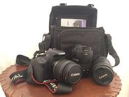 Canon 500D kit incl 3 lens, filters and camera bag