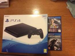 Brand New Ps4 Slim + Watch dogs and Fifa 14