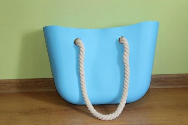 ec4c74f4a2957 O bag TORBA GUMOWA TOREBKA silikonowa JELLY BAG piękny błękit nieba po  Rzeszów - image 1