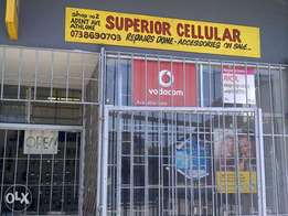 cell shop for sell.