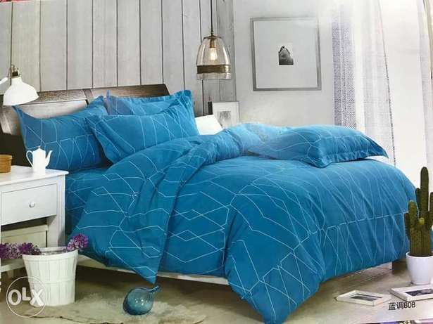 Warm cotton duvets with one matching bedsheet and 2 pillowcases Kitengela - image 2