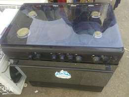 Clean SCANFROST 6unit gas and electric cooker with oven and grill