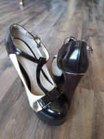 Жіночі туфлі 35 р. Натур.лак. 4c4670d56464c