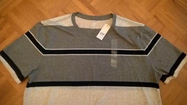 075d89471 Nowa koszulka GAP bardzo fajny wzor tshirt szare paski Warszawa - image 1