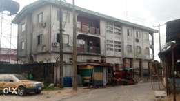 Standard two storey building along the most busy road in warri