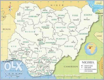 Maps of Africa, Nigeria and Any State available Central Business District - image 2