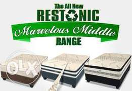 Restonic Marvelous middle and Sleepmaster queen beds at Cost