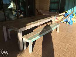 Farm style Dinning table and benches