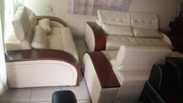 Complete set of high quality leather sofa chair