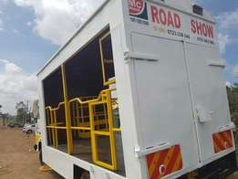 Roadshow truck for hire from 30,000