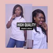 High Grade Unisex Plain White T-shirts for NYSC and everyday wear.