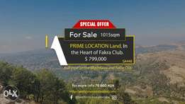 PRIME LOCATION Land, in the Heart of Fakra Club أرض مميزة في فقرا