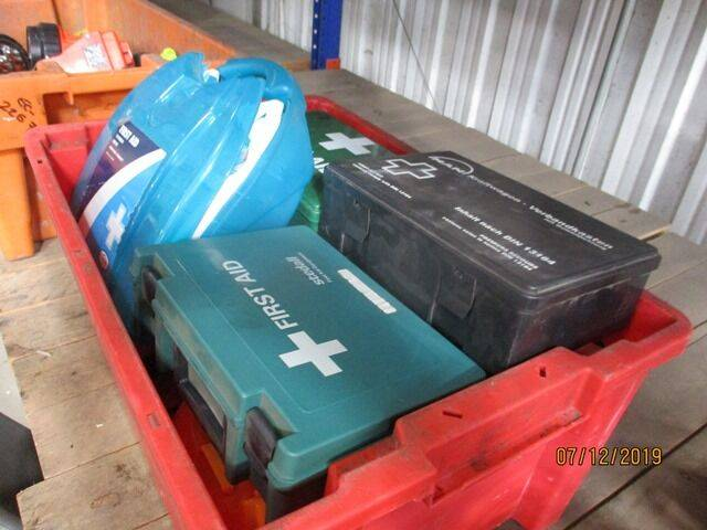 Sale first aid boxes automotive tool for  by auction