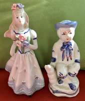 Mothers Day soon! 2 hand painted Vintage Porcelain Figures