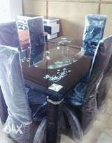 Top class dining table with 6 chairs