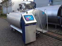 New milk cooling tanks for sale.