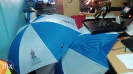 Umbrellas printing 4 panel s at 100 full color single 80 bob