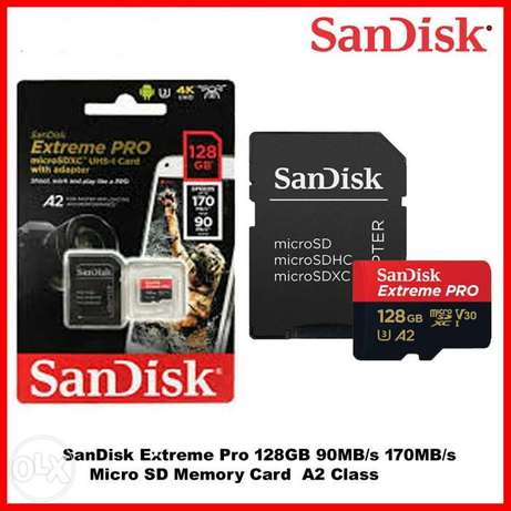 SanDisk Extreme Pro 128GB 4K Ultra 3 Class 10