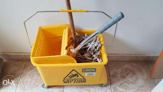 Cleaning Trolley Wringer Combo الرياض -  5