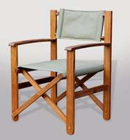 // Solid Kiaat Folding Safari Chair //