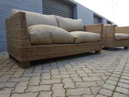 REAL CANE patio set!Excellent condition!