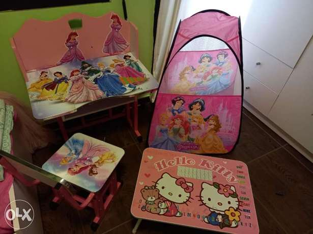 kids tent table chair