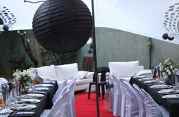 Stretch or pole Tents,couches,chairs , tables for hire