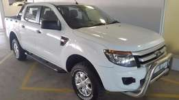 2013 Ford Ranger 2.2 XLS Double Cab 4x4 MT with 92 000km