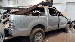 Toyota hilux KBW with damaged front part