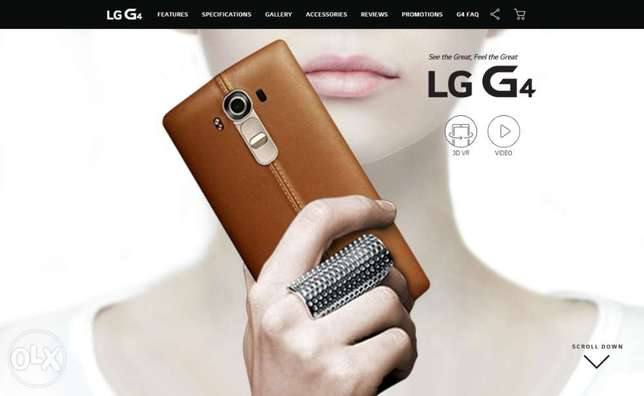 LG G4 Leather Back Cover - Brown Kasarani - image 4