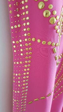69af7263f1 Sukienka Versace dla H M różowa jedwabna złote dżety cekiny 38 M zamek  Szczecin - image 5