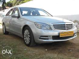 A Blue Efficiency Mercedes Benz C 200, Silver, 2010 Model!