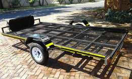 Mechter 3 Quad Flatbed Trailer