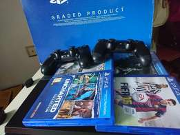 New PS4 for sale 2pads and 4cd