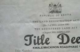 Land with title deed