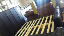 Double bed Leather Headboard
