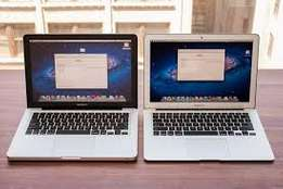 Macbook air and macbook pro for sale fresh like new but second hand.