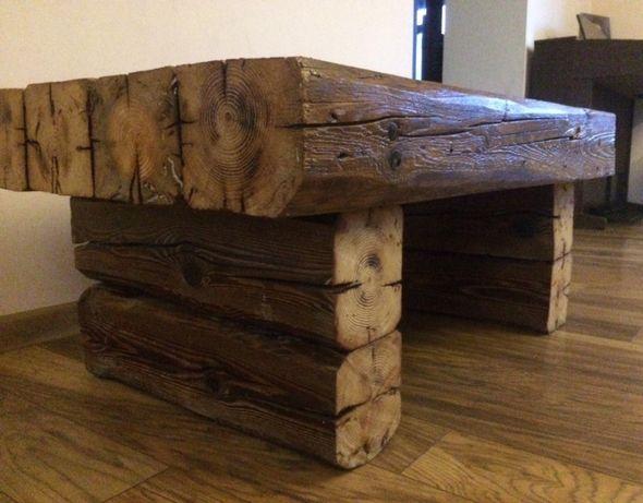 Stolik Kawowy Rustykalny Z Bali Stare Drewno Loft Prudnik Olxpl
